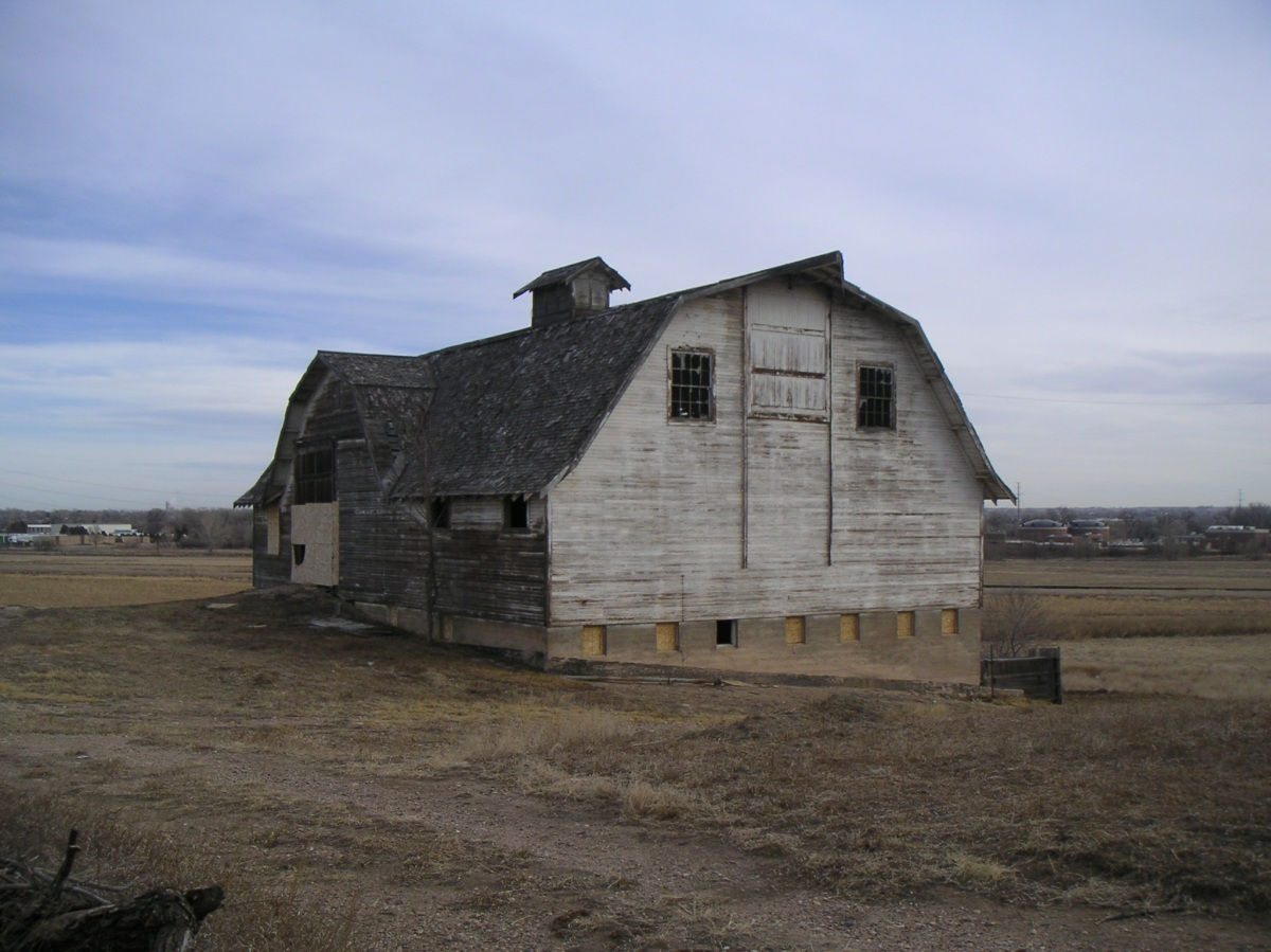 Demolition by neglect: bank barn, February 2009