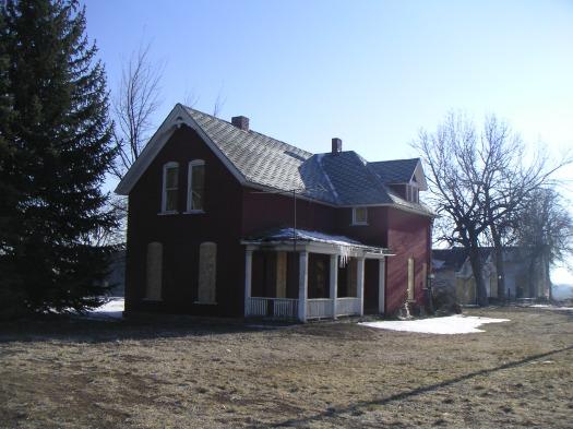 Abandoned farmhouse, built ~1890