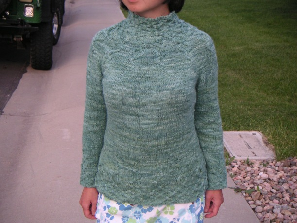 Knitting: Wisteria, pattern by Kate Gilbert