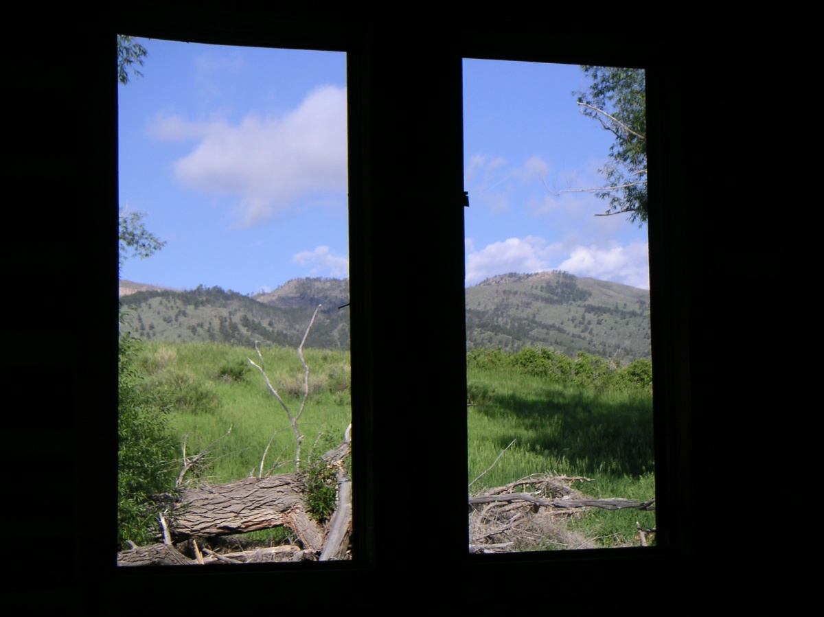 View from the Kitchen/Smith Cabin, built in 1917, restored 2008