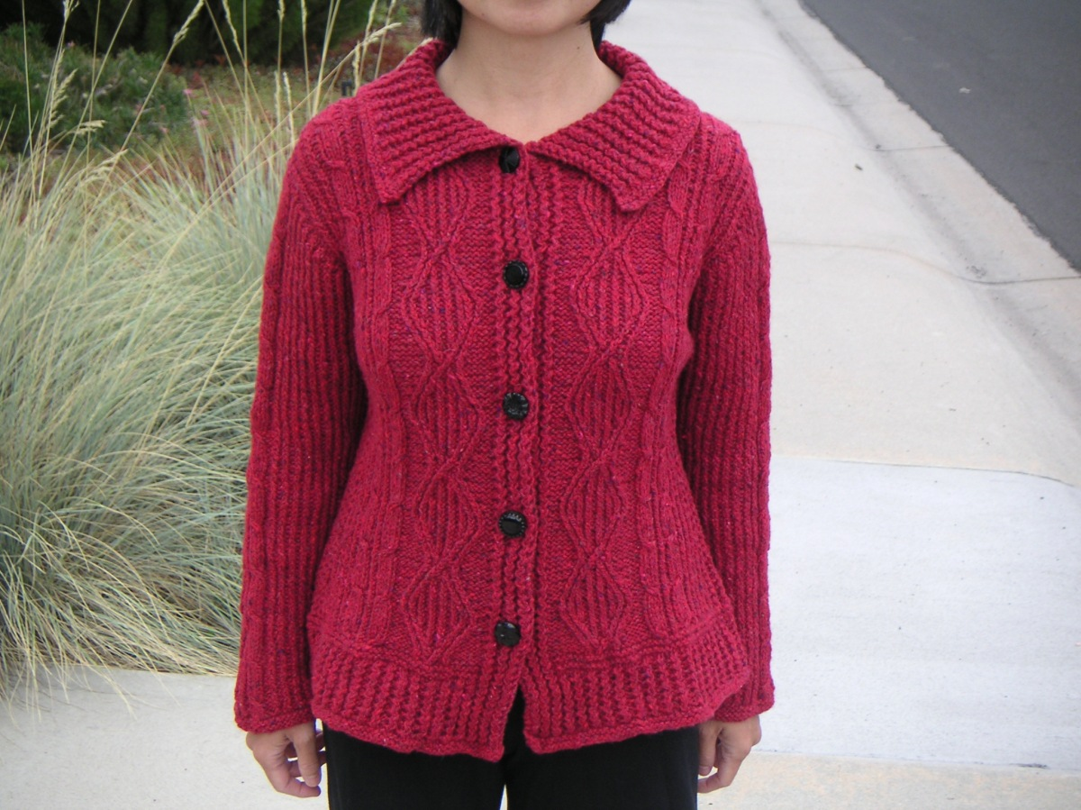 Tweedy Aran Cardigan, designed by Norah Gaughan
