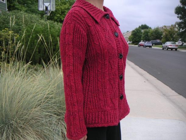 Tweedy Aran Cardigan, designed by Norah Gaughan