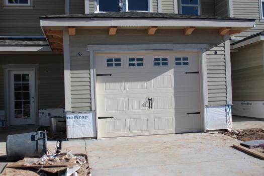 . . . .  with fake side-swing garage doors!