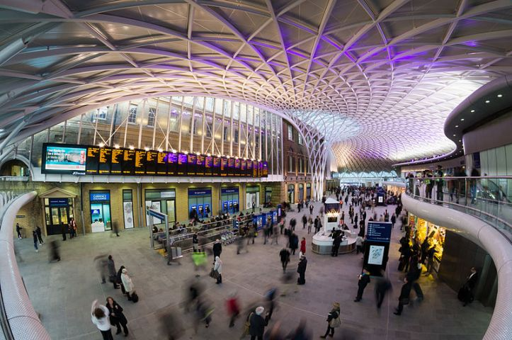 Interior of the King's Cross train station