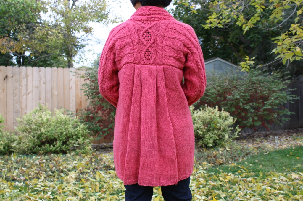 Nora's Sweater, back view